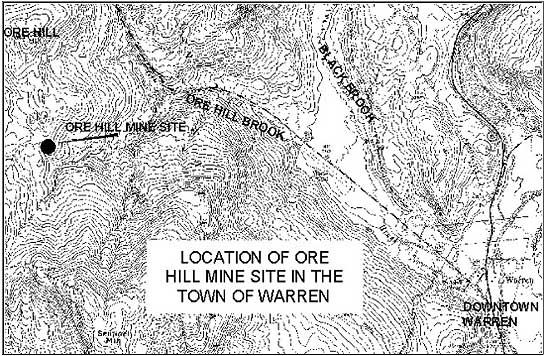 Map of Ore Hill Mine Location